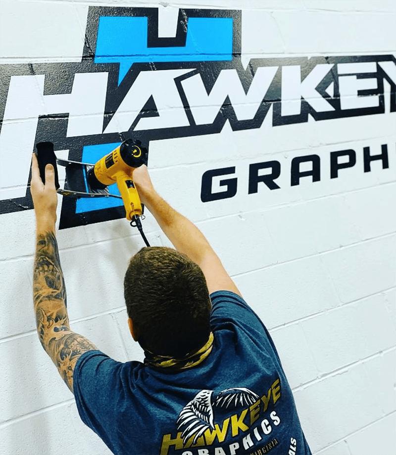 Hawkeye Wall Graphic Installation